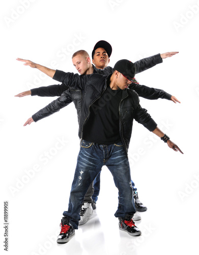 Three Hip Hop Young Men