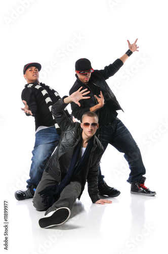Three Young Man Dancing