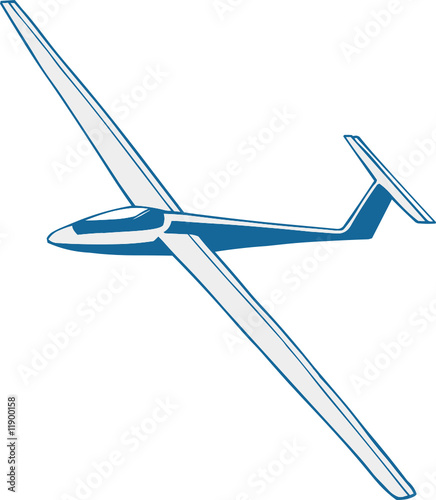 Vector illustrated glider on the white background - 11900158