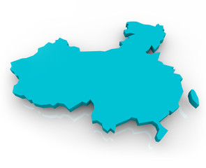China Map - Blue