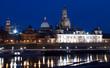 Vista nocturna de Dresde
