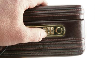 Unlocking briefcase