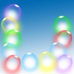 Bubbles balls background