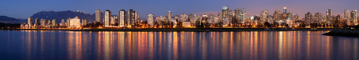 Downtown Vancouver on a winter evening