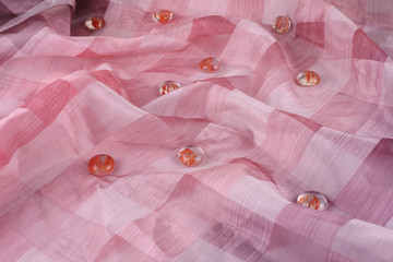 Pink crushed background cloth
