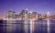 Manhattan city skyline at night