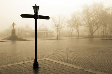 time in fog, City centre