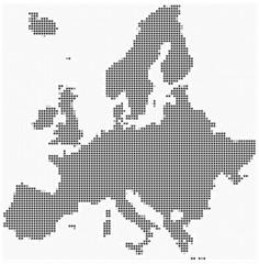 Mosaic Europe map (square pixels)