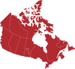 There is a map of Canada country