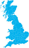 There is a map of Great Britain country poster