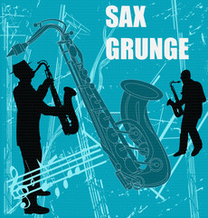 Sax Grunge Background