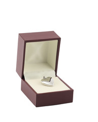 Heart Platinum Locket in box