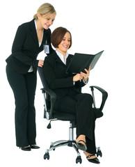 Women Businessteam Looking At Agenda
