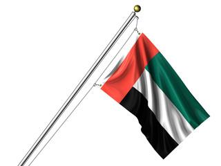 Isolated United Arab Emirates Flag