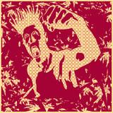 Grunge Rage Background poster