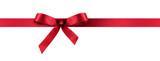 Fototapety Geschenkband - Geschenkschleife aus Satin