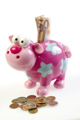 Piggybang with euros