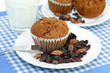 Oat Bran Muffins with Raisins and Almonds