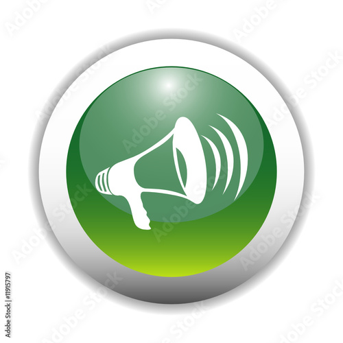 Megaphone Icon Button