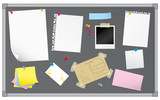 Fototapety Bulletin board with stationery