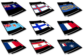world flag book collection 10