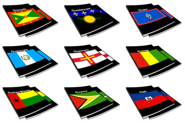 world flag book collection 12
