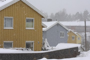 House in the winter.