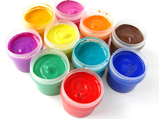 colorful gouache set