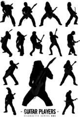 Guitar Players Silhouette Series One
