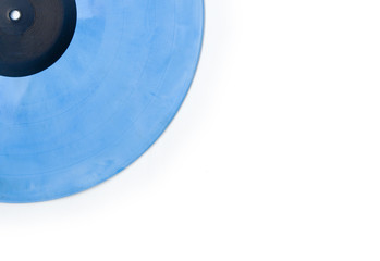 blue vinyl background
