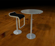 Table et tabouret
