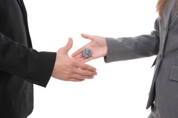 Business Handshake Joke