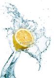 Fototapety Lemon in water splash