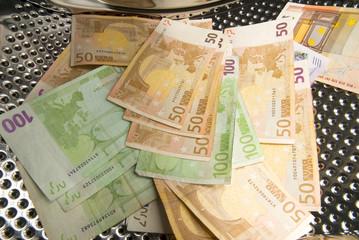 Washing money - euro
