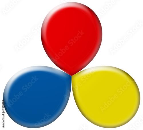 Fleur chromatique en 3d avec les 3 couleurs primaires - Quelles sont les couleurs primaires ...