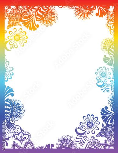 flower frame clipart. paisley flower border