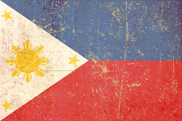 flag of philippines grunge