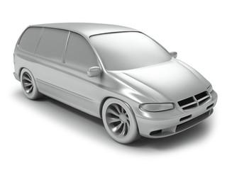 Silver vagon car
