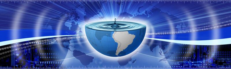 banner water drop