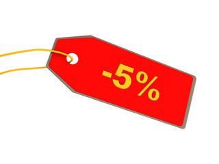 five percent discount