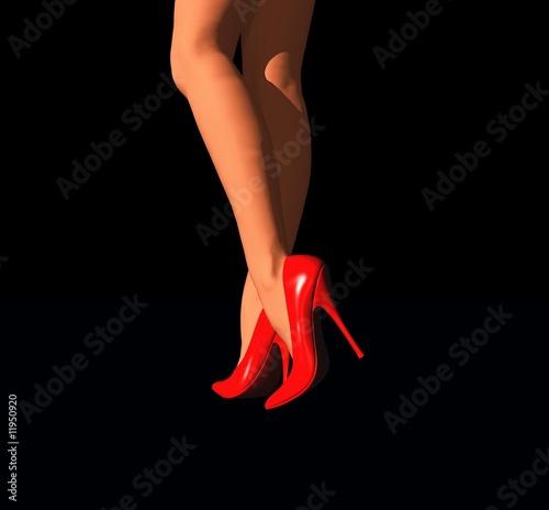belles jambes de femme en talons aiguilles
