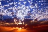 Magnificent sparkling sunset poster
