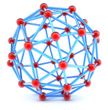 Molecular spherical lattice poster