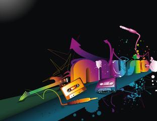 Music 3d vector