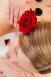 Woman enjoying Massage