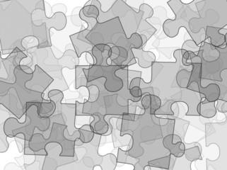 illustration of puzzles on white background