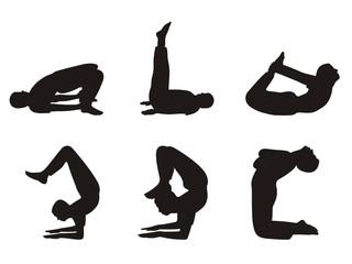 Vector Yoga Postures