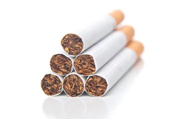 pyramid  of cigarettes