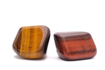 Cat eye and tiger eye gemstones