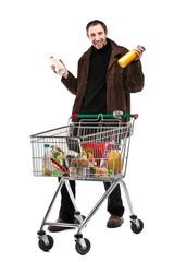 Consommateur avec caddie